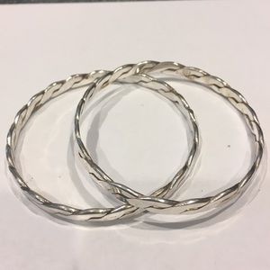 Pair of Sterling Silver Texco Bangles